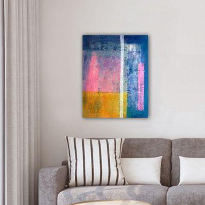 cuadro moderno abstracto para decorar el salón -primavera