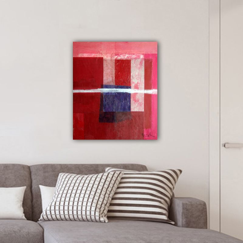 cuadro abstracto moderno para decorar el salón -invierno