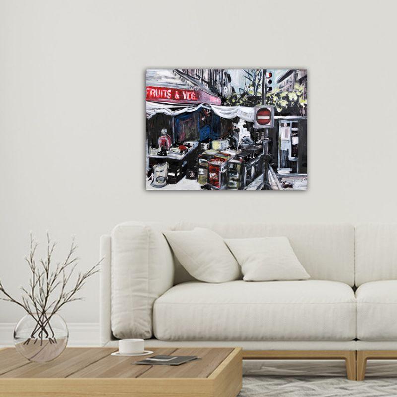modern urban paintings-market in New York