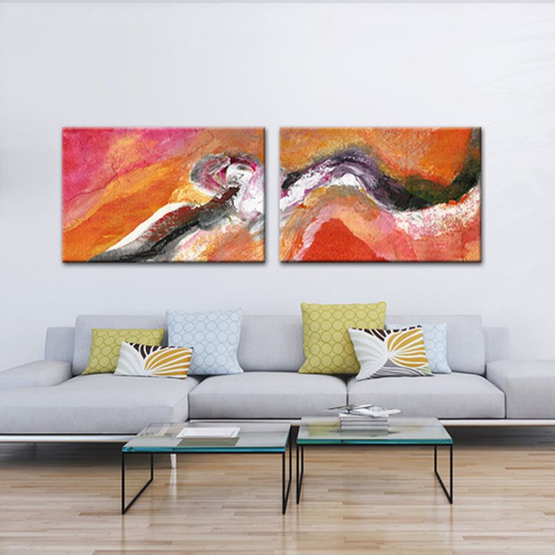 abstract modern paintings-spiral of time