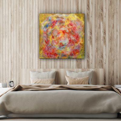 cuadro moderno abstracto atmósfera