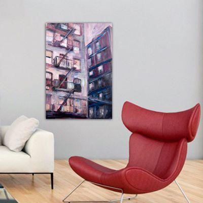 cuadros modernos urbanos de ciudades-edificio en Nueva York