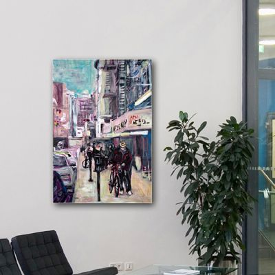 Tableau urbain chinatown à New York