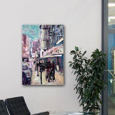 modern urban paintings-chinatown in New York