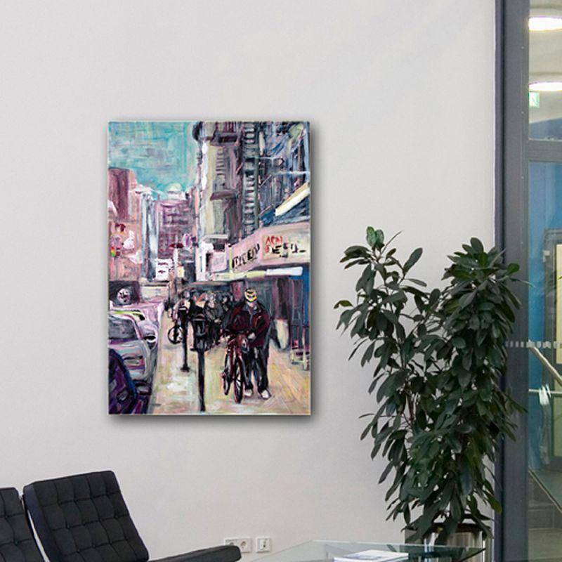 quadres moderns urbans de ciutats-chinatown a Nova York