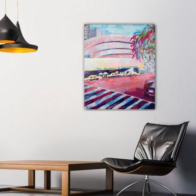 cuadros modernos urbanos de ciudades- Guggenheim en Nueva York