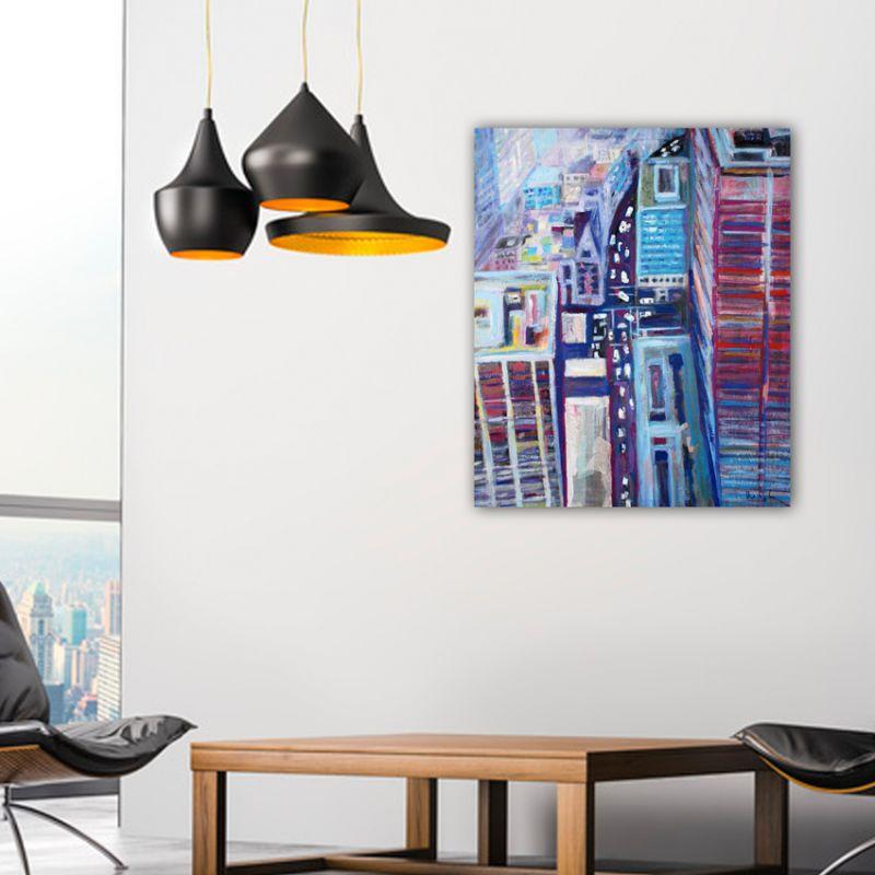cuadros modernos urbanos de ciudades-Nueva York desde arriba