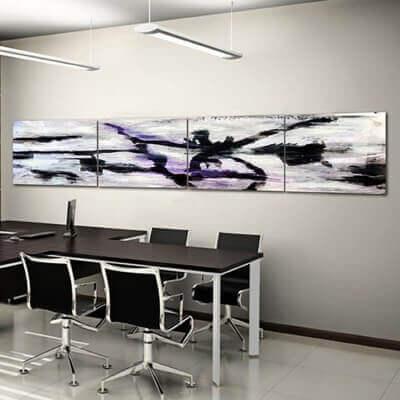 cuadros modernos abstracto laberinto abierto