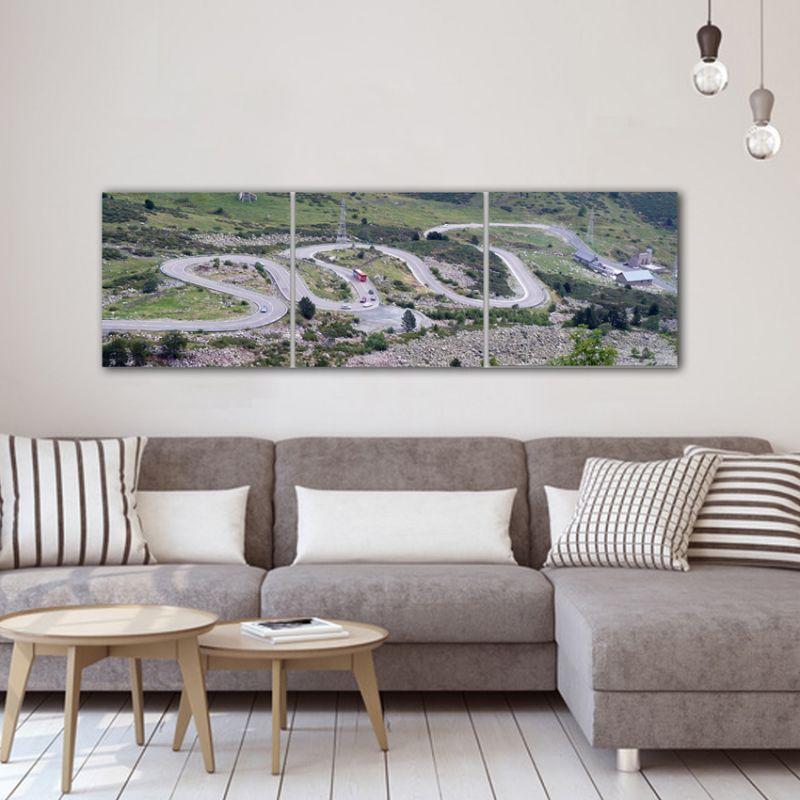 Cuadro personalizado con tus fotos en formato tríptico panorámico