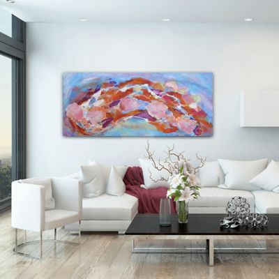 abstract modern paintings-reencounter