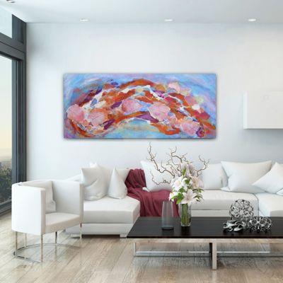 cuadro moderno abstracto reencuentro
