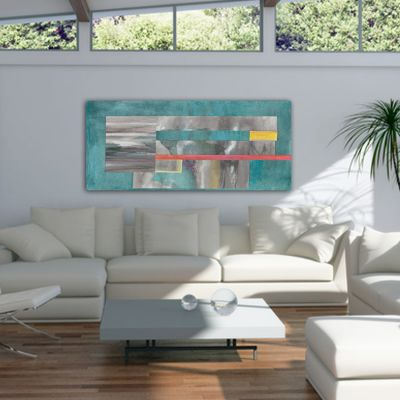 abstract geometric paintings for the living room -balance