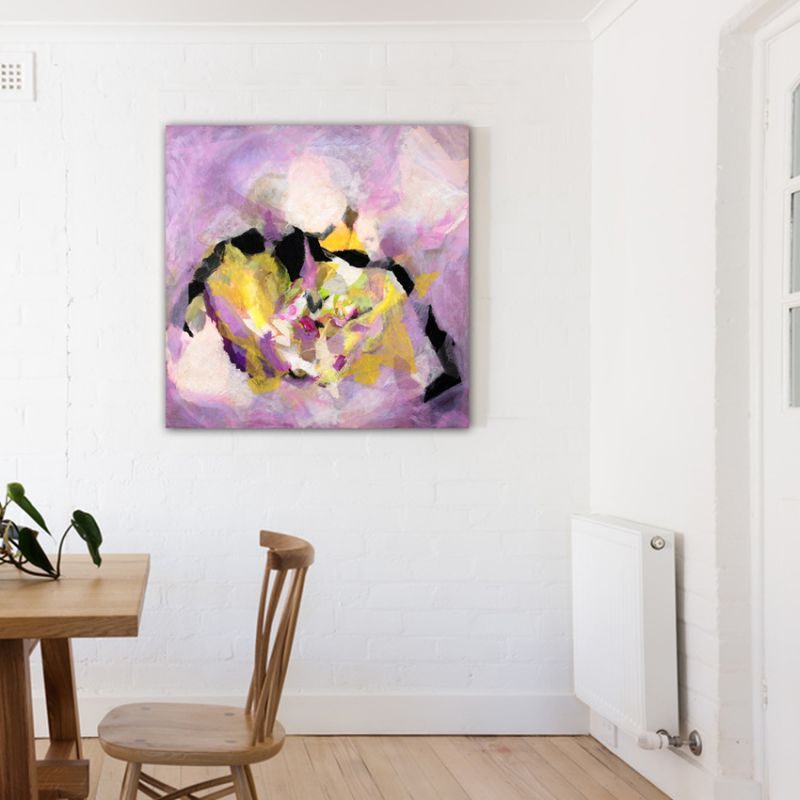 abstract modern painting. loving heart