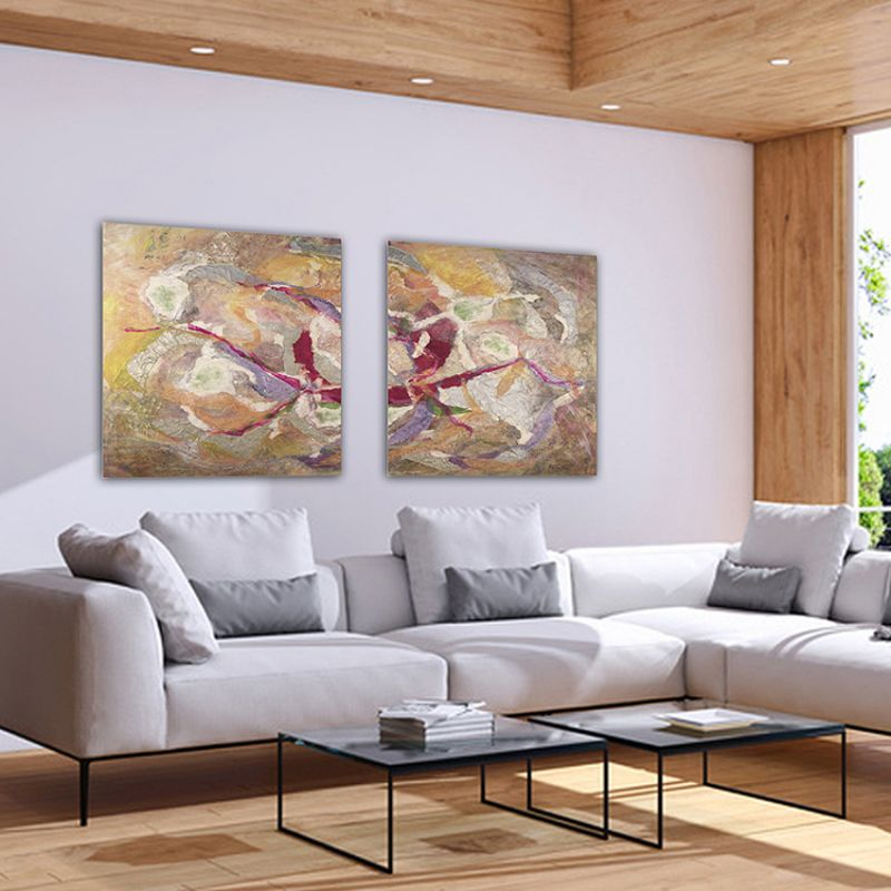 cuadros abstractos-díptico universo personal
