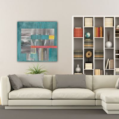 abstract geometric paintings for the living room -stability