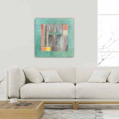 abstract modern paintings for the living room -serenity