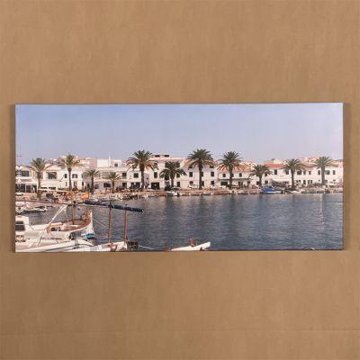 """canvas photo """"vista de Fornells"""" 92 x 42 cm."""