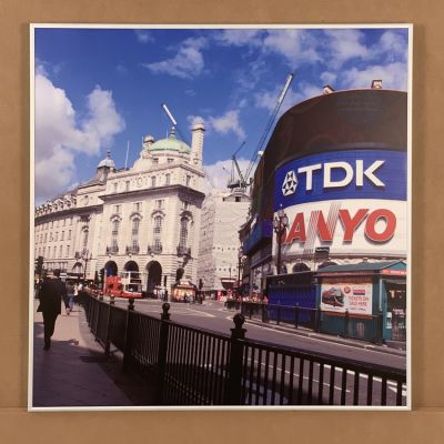 "tableau photo ""Picadilly Circus"" 70 x 70 cm."