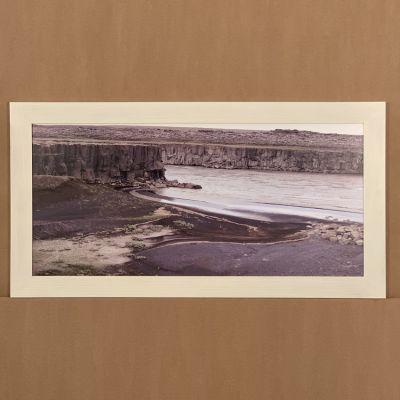 "cadre photo ""rio en Islandia"" 100 x 52 cm."