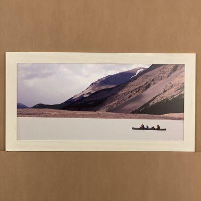 "tableau photo ""canoa en el lago"" 100 x 52 cm."