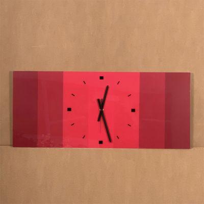 "horloge murale méthacrylate ""RRR"" 95 x 41 cm."