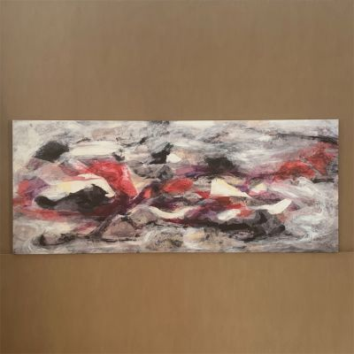 """canvas painting """"discernimiento"""" 170 x 70 cm."""