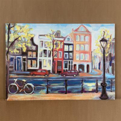 """quadre en canvas """"casas en Amsterdam"""" 115 x 80 cm."""
