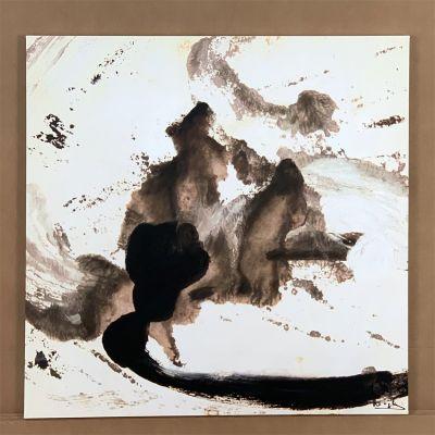 "canvas painting ""pensamiento"" 80 x 80 cm."