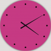 relojes de pared modernos de diseño fucsia