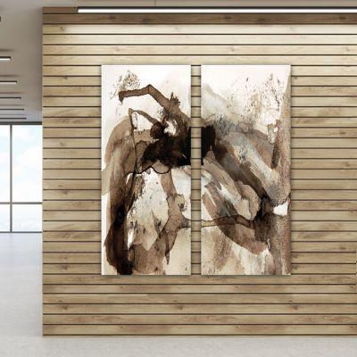 cuadros abstractos-díptico vertical divagar
