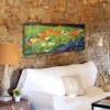 modern flower painting for the living room -field of flowers