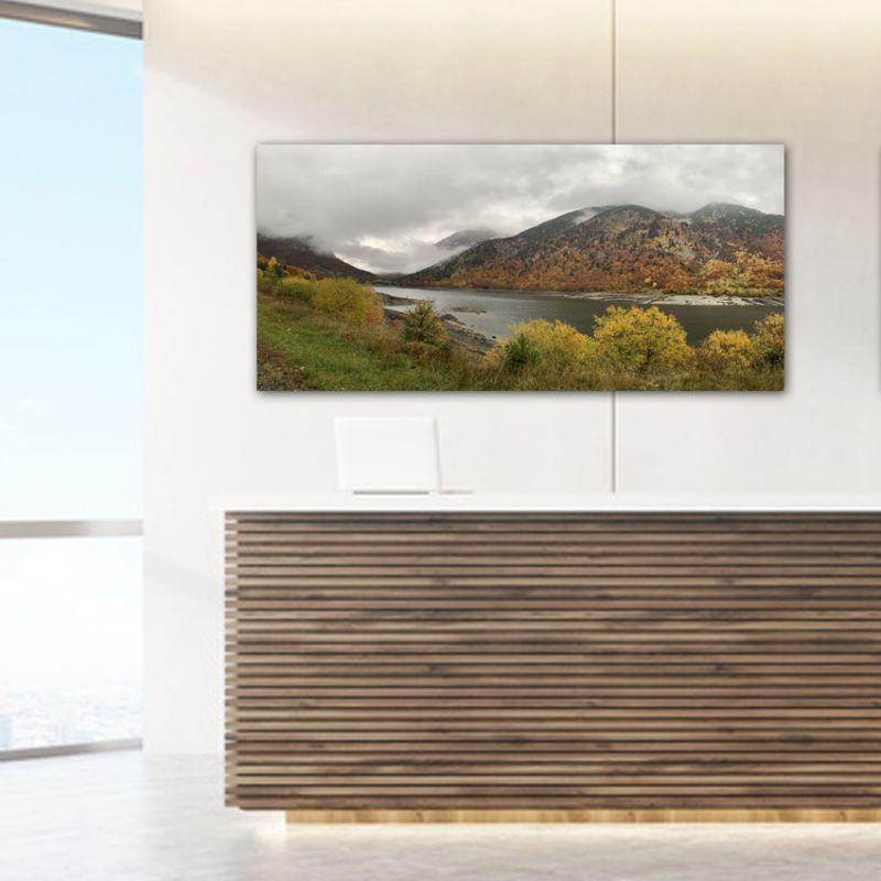 Cuadro fotografía paisaje otoño en el lago I