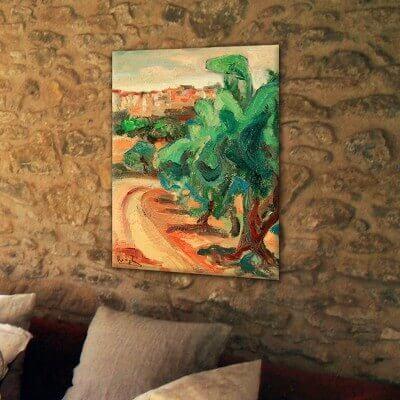 cuadros modernos paisajes camino