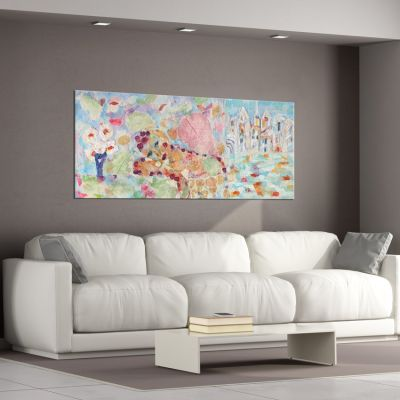 modern abstract paintings for the living room-melancholia