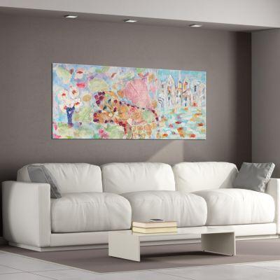 tableau abstrait idéale pour décorer le salon-mélancolie