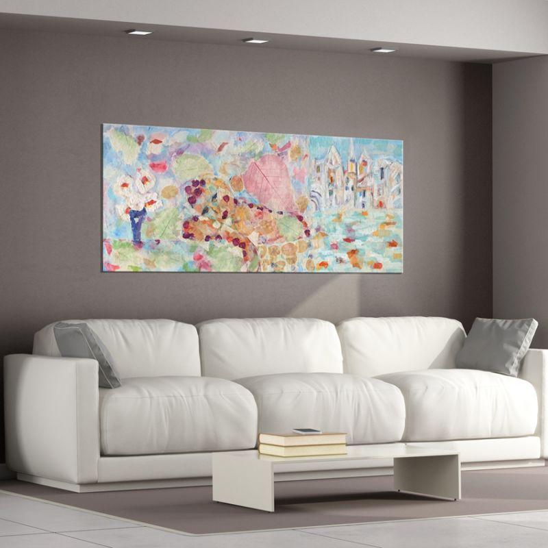 cuadros modernos abstractos para decorar el salón-melancolía