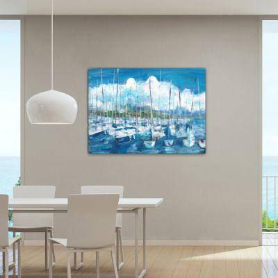 cuadro moderno paisaje nautico para el salón-tormenta