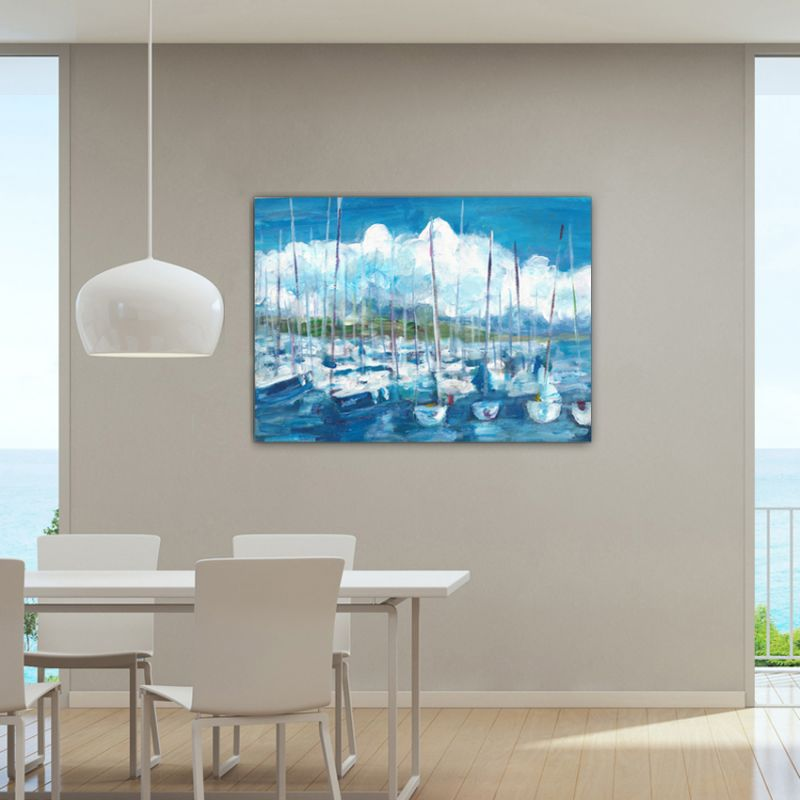 modern paintings nautical landscape to decorate the dining room-storm