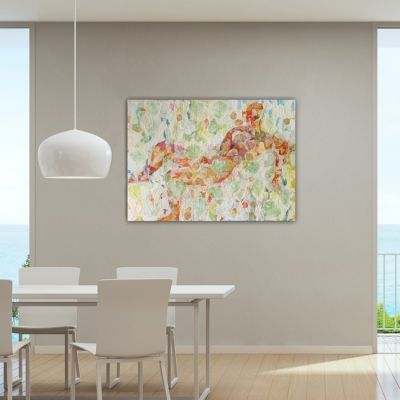 MODERN ABSTRACT PAINTINGS ideal for decorating the dining room-Dream rain