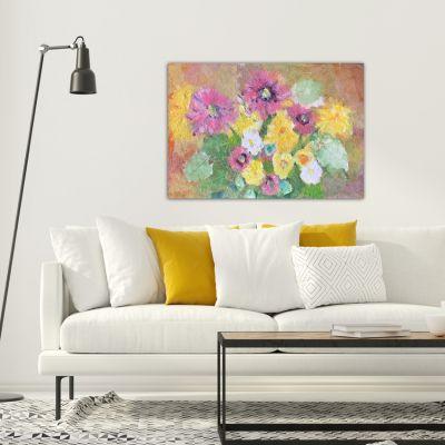 tableaux modernes de fleurs por décorer le salon- alegretto