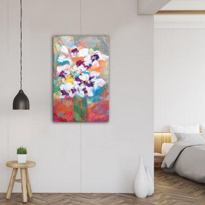 Tableau moderne fleurs-fleur blanche