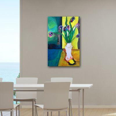 cuadros modernos de flores para el comedor -composición
