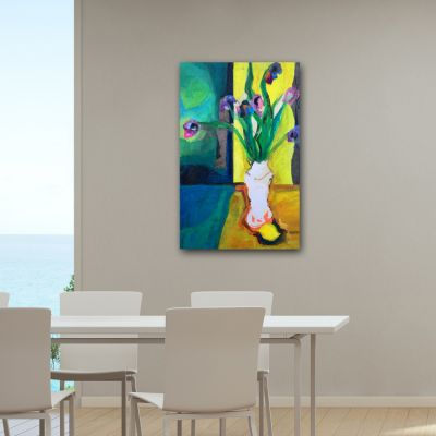 modern flower painting-composition