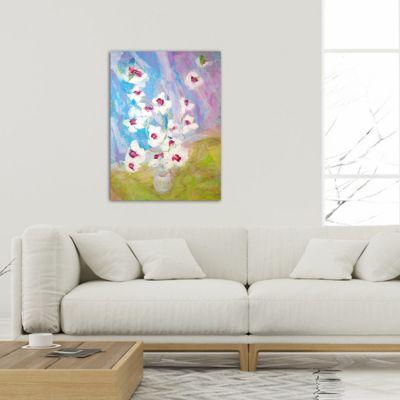 cuadros modernos de flores para el salón-orquídeas lll