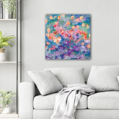 modern flower paintings for the living room -germinate