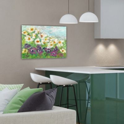 modern floral painting to decorate the living room-divertimento
