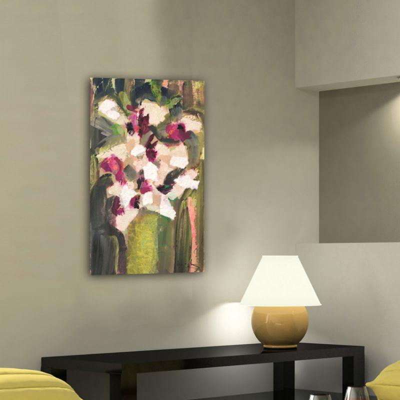 Quadres flors blanques moderns per decora el menjador -ram d'orquídies