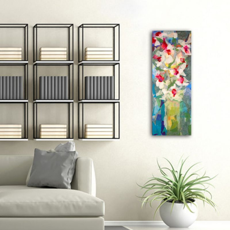 cuadros modernos de flores para el salón -ramo de flores