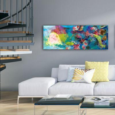 cuadros abstractos de flores para el salón -sinfonia de colores