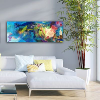 Tableau moderne fleurs pour le salon -harmonie des couleurs